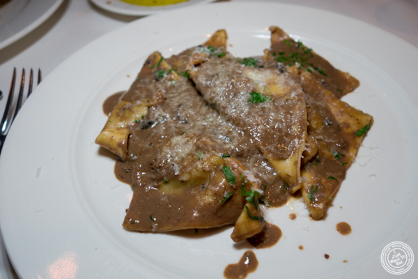Beef cheek ravioli at Babbo Ristorante e Enoteca in NYC, NY