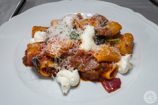 Rigatoni all Norma at La Sirena in NYC, NY