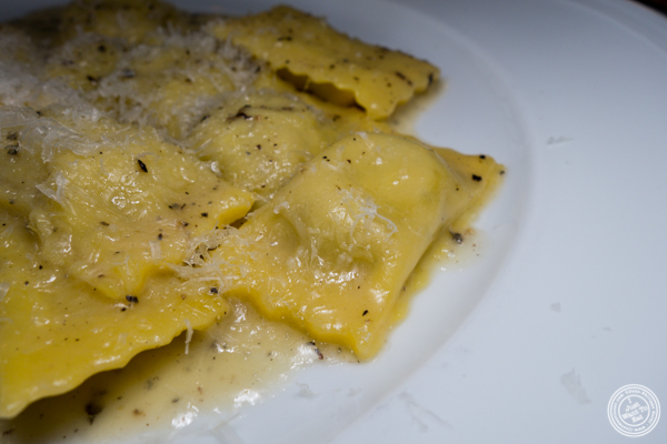 Agnolotti cacio e pepe at La Sirena in NYC, NY