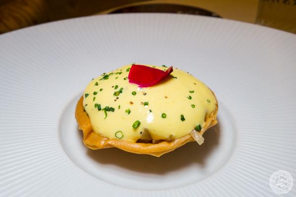 Sauerkraut tart at Gabriel Kreuther in NYC, NY