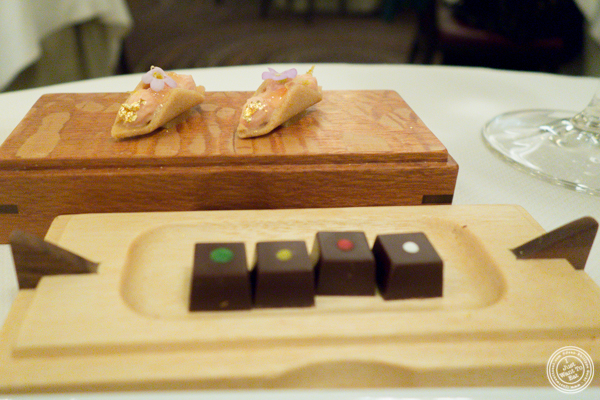 Petits fours at Daniel in NYC, NY