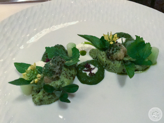 broccoli at Daniel in NYC, NY