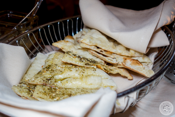 Naan bread at Junoon in NYC, NY