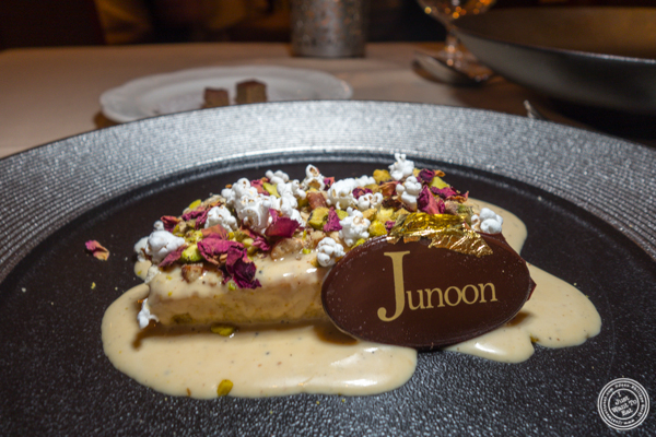 Shahi Tukra at Junoon in NYC, NY