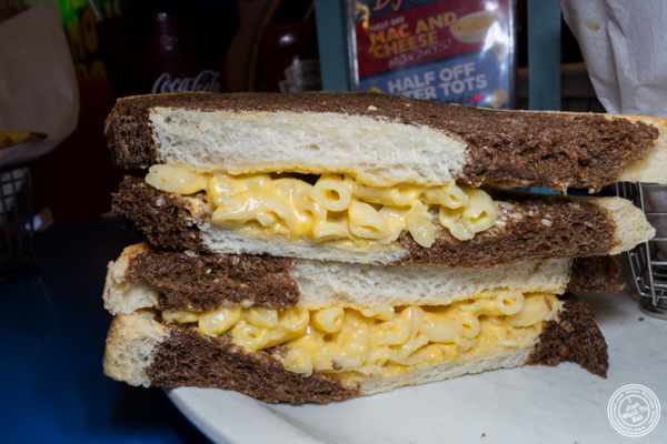 Mac'n grilled cheese at Big Daddy's Diner in NYC, NY
