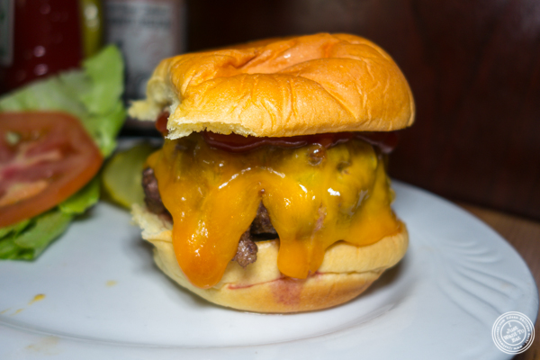Cheeseburger at Corner Bistro in Long Island City