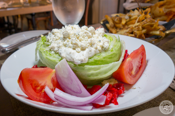 Wedge salad at Greenwich Steakhouse in NYC, NY