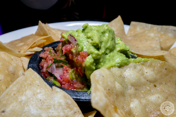 Guacamole and chips at Sexy Tacos Dirty Cash in Harlem