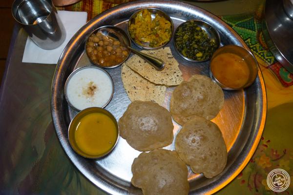 Entree thali at Vatan in Murray Hill