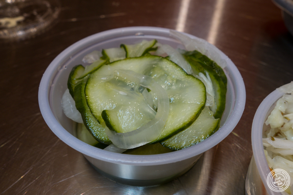 Pickles at Blue Ribbon Fried Chicken in Hell's Kitchen
