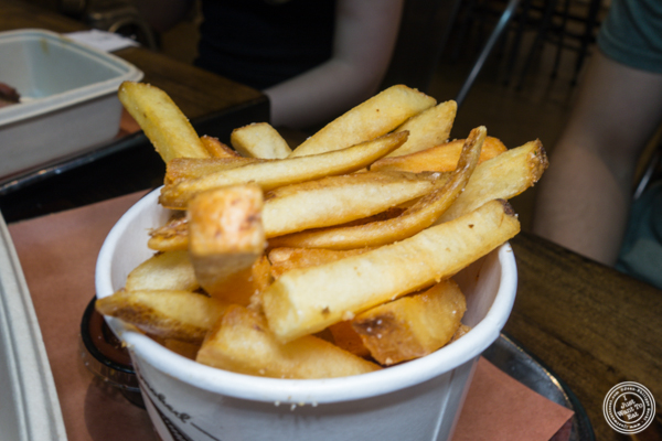 French fries at Mighty Quinn's BBQ near Times Square