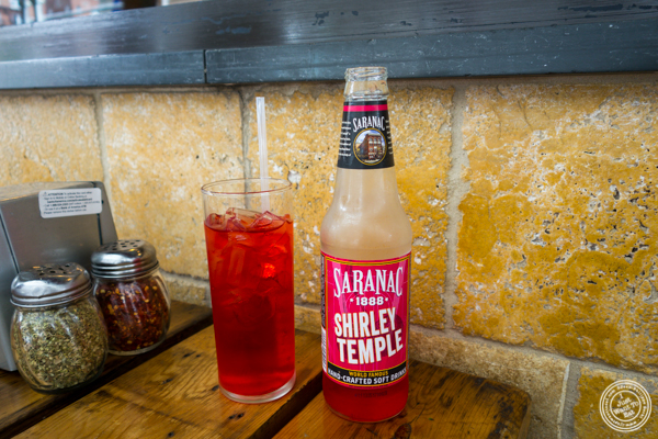 Shirley temple at Tappo Thin Crust Pizza in NYC, NY