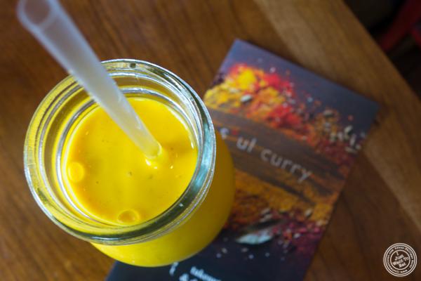 Mango lassi at Soul Curry in Hoboken, NJ