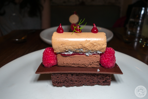Chocolate cake at The Musket Room in NYC