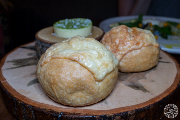 Cheese bread at The Musket Room in NYC