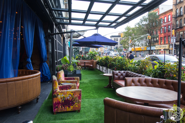 Outdoor area at Vandal in the Lower East Side
