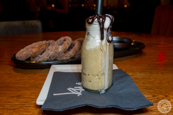 Irish coffee milkshake shot at Vandal in the Lower East Side
