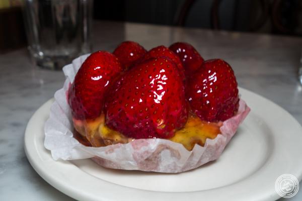 Strawberry tart at La Bergamote in Chelsea