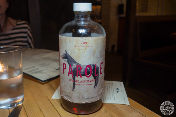 Housemade whiskey at Saxon+Parole in NYC, NY