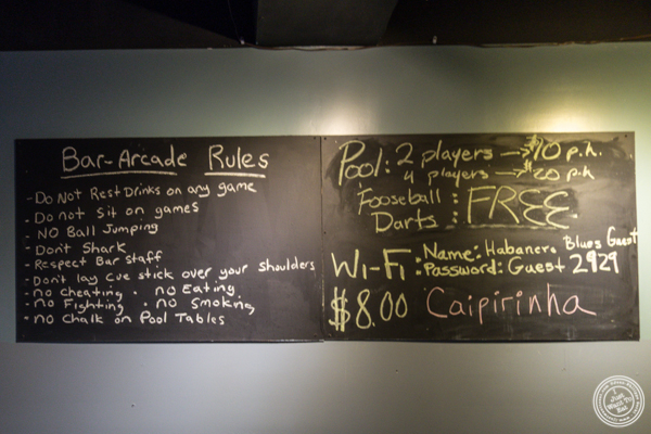 Rules at American Hall Beer and Arcade in NYC, NY