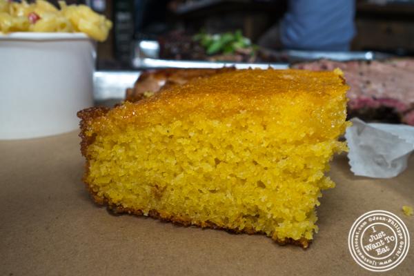 Corn bread at Hometown Bar-B-Que in Brooklyn
