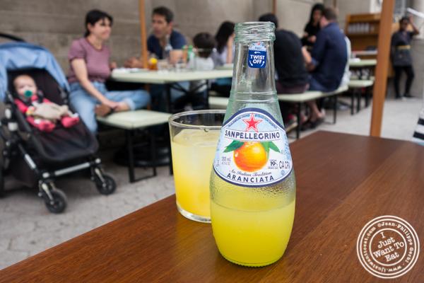 San Pellegrino Aranciata soda at Bocce in Union Square Park