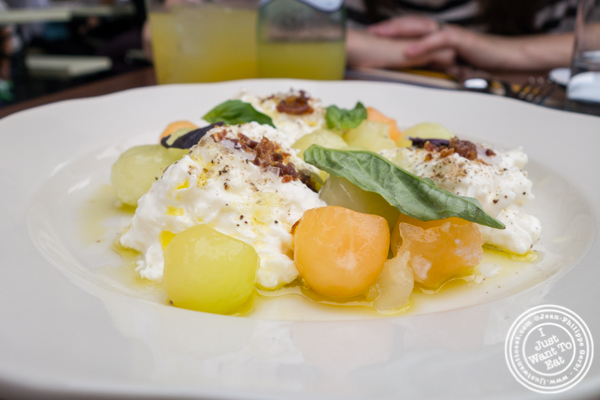 Summer melon salad at Bocce in Union Square Park