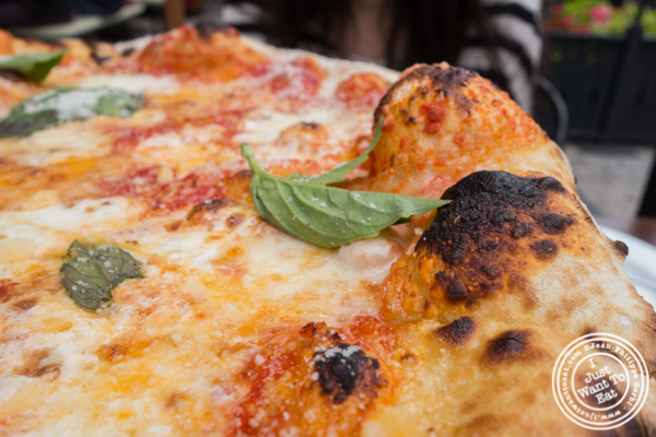 Cheese pizza at Bocce in Union Square Park