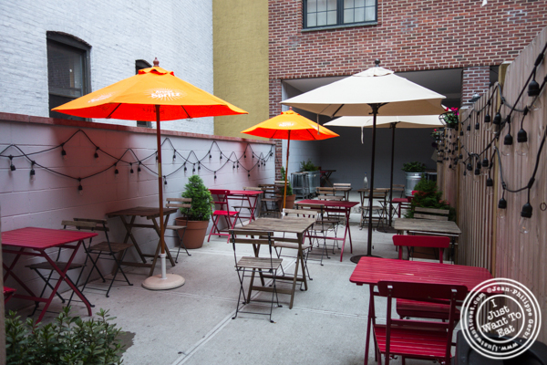 Backyard at The Freckled Moose in Astoria, Queens