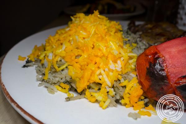 Baghali polo rice at Seven Valleys in Hoboken, NJ