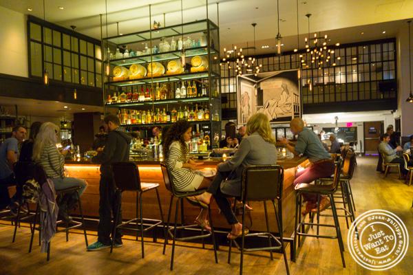 Bar area at Irvington in NYC, NY