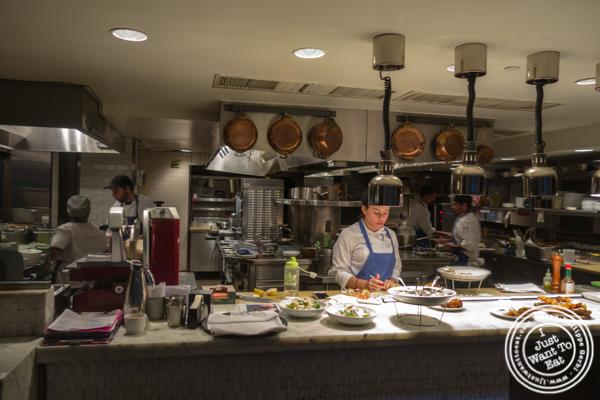 Open kitchen at Irvington in NYC, NY