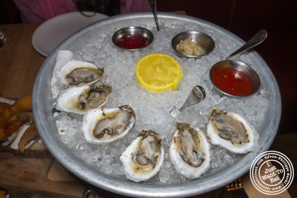 Island Creek oysters at Irvington in NYC, NY