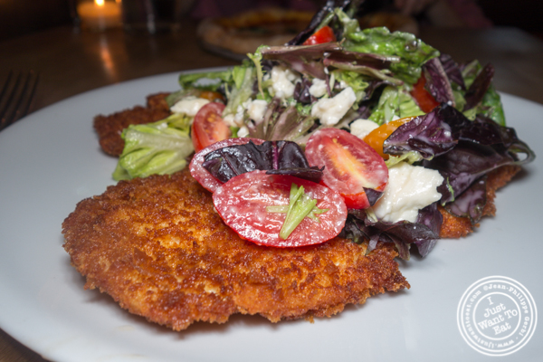 Chicken Milanese at Irvington in NYC, NY