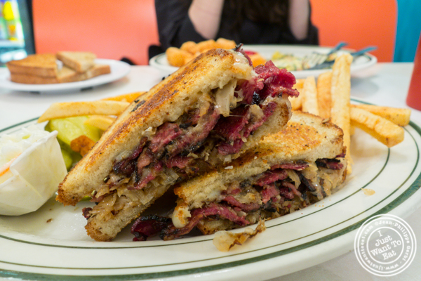 Pastrami reuben at Spa Diner in Hoboken, NJ