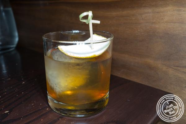 Quemar la casa cocktail at Salinas in NYC, NY