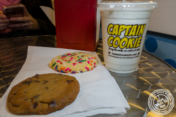 Cookies and milkshake at Captain Cookie and The Milkman in Washington DC