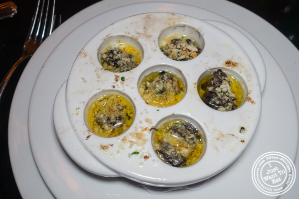 Escargots at Marseille in Hell's Kitchen