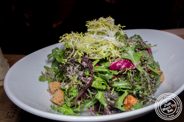 Farm salad at Foragers Table in Chelsea