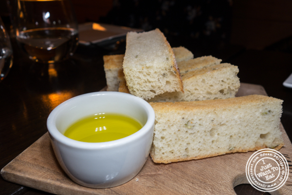 Focaccia at Foragers Table in Chelsea
