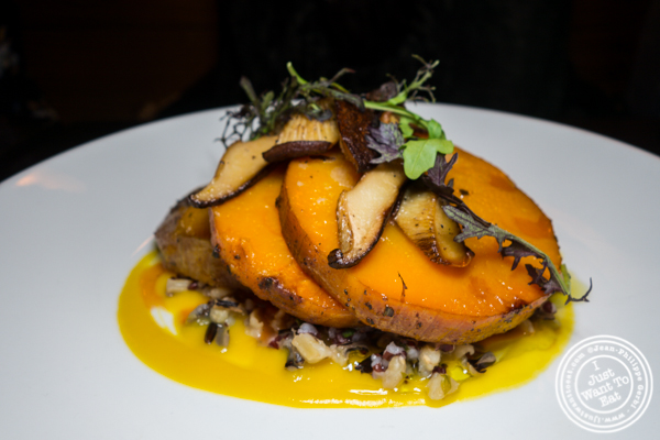 Butternut squash tenderloin at Foragers Table in Chelsea