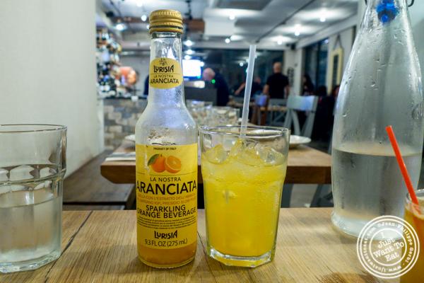 Aranciata soda at Luzzo's in Long Island City