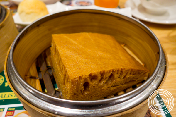 Steamed egg cake at Tim Ho Wan in Hell's Kitchen
