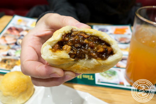 BBQ pork buns at Tim Ho Wan in Hell's Kitchen