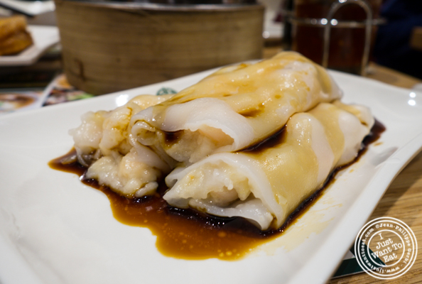 Steamed rice rolls with shrimp at Tim Ho Wan in Hell's Kitchen