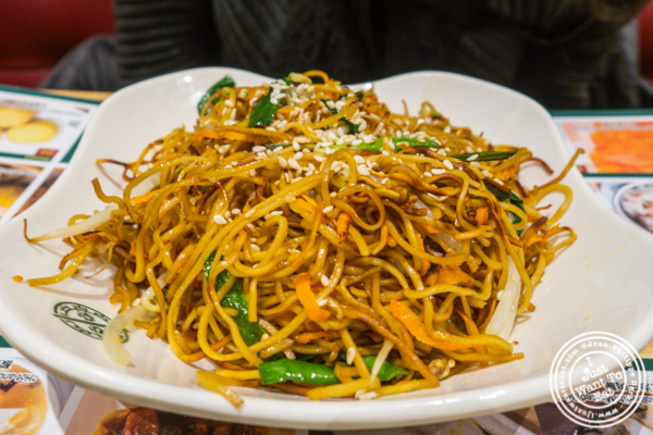 Pan fried noodles at Tim Ho Wan in Hell's Kitchen
