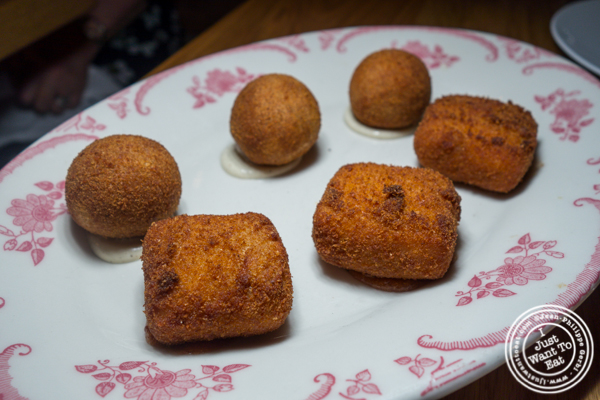 Croquettes at Boqueria in Times Square