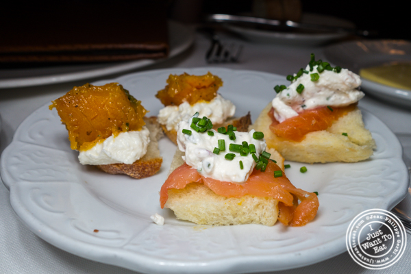 Canapes at Scalini Fedeli in TriBeCa