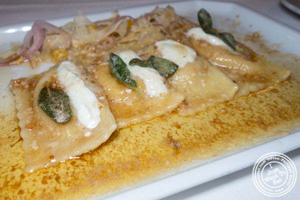 Butternut agnolotti at Scalini Fedeli in TriBeCa