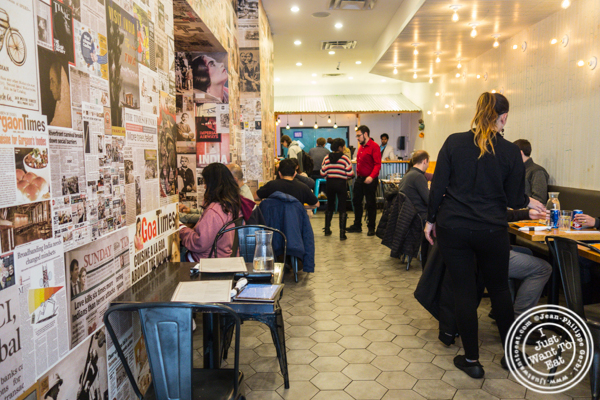 Dining room at Adda in Long Island City